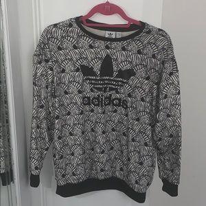 Rare Zebra Print Adidas Crewneck